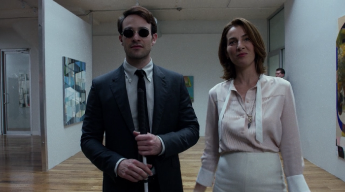 Matt and Vanessa, admiring her favorite painting, as seen in Marvel's Daredevil on Netflix