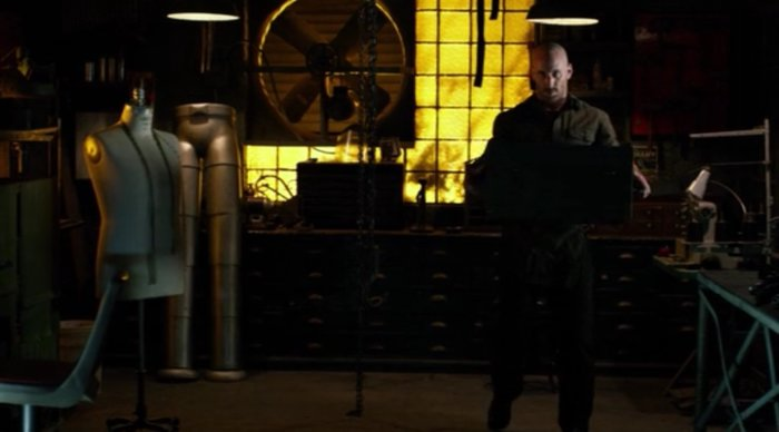 Melvin's workshop, as seen in episode thirteen of Marvel's Daredevil on Netflix