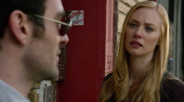 Is Karen ready to turn over a new leaf? Scene from the end of Marvel's Daredevil episode 13