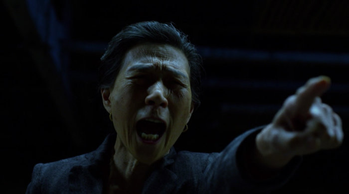 Madame Gao instructs her blind workers to attack, as seen in episode twelve of Marvel's Daredevil on Netflix