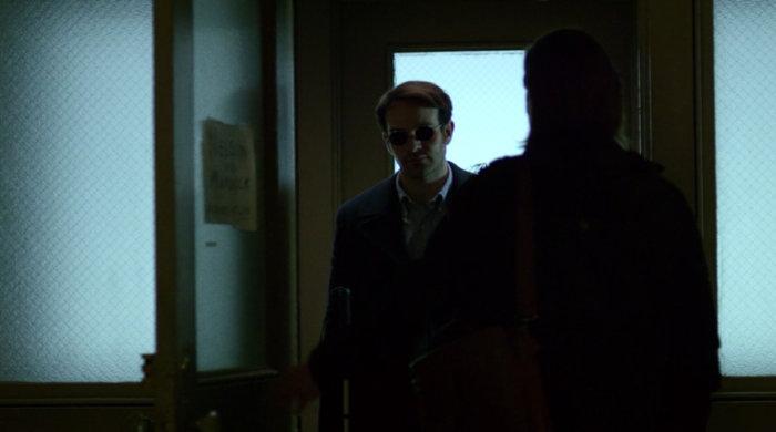 Matt and Foggy have an awkward meeting, as seen in episode twelve of Marvel's Daredevil on Netflix
