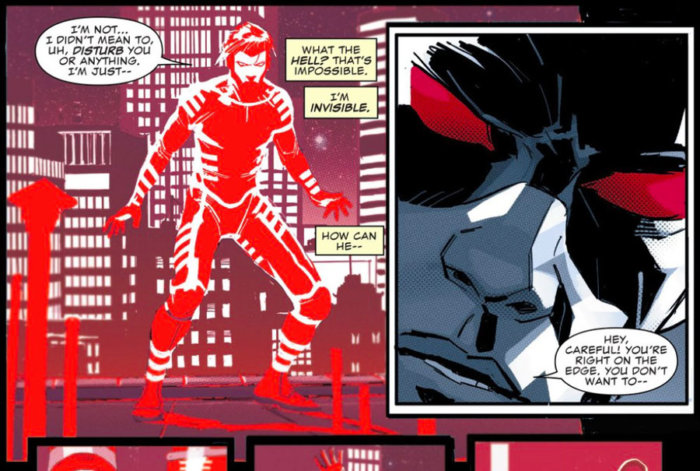 Daredevil detect Blindspot, as seen in the Charles Soule and Ron Garney story in All-New, All-Different  Point One