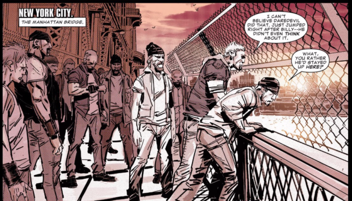 Your not so standard bad guys, as seen in Daredevil #1 (vol 5), by Charles Soule and Ron Garney