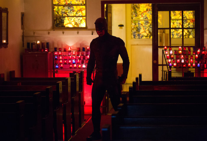 Daredevil in church, image from season 2