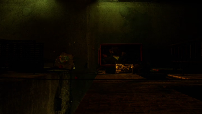 Dumpster with Russian in it, as seen in episode 2 of Marvel's Daredevil on Netflix