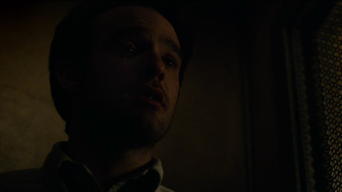 Matt in confession, as seen at the beginning of episode one of Marvel's Daredevil.