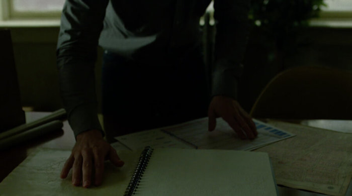 Matt examining a braille subway map, as seen in episode 12 of Daredevil season 2