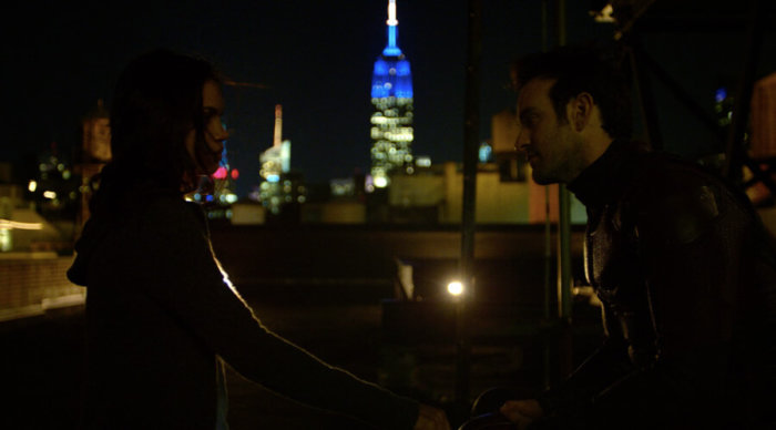 Matt and Claire having a conversation, as seen in episode 10 of Daredevil season 2