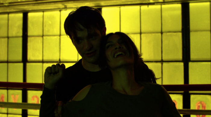 Matt and Elektra sparring, as seen in the fifth episode of season two of Daredevil on Netflix