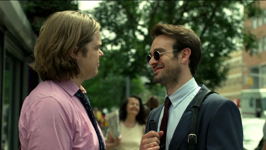Matt and Foggy have a talk on their way to work, as seen in episode one of Daredevil, season two