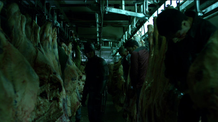 Matt finds dead bodies in a slaughter house, as seen in episode one of Daredevil, season two