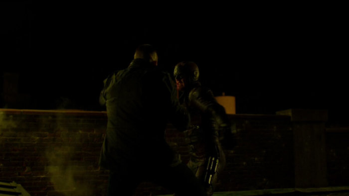 Daredevil and the Punisher have a rematch, as seen in episode two of Daredevil, season two