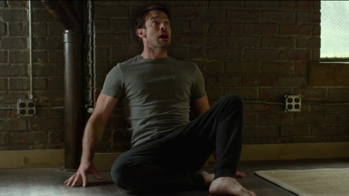 Matt is panicking after losing his hearing, as seen in episode two of Daredevil, season two