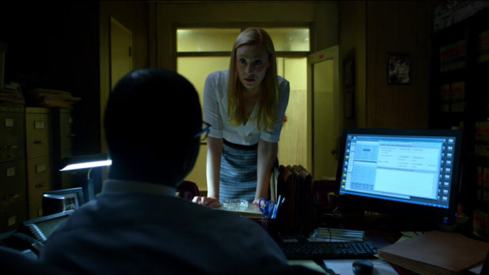 Karen puts pressure on assistant D.A. Blake Towers, as seen in episode two of Daredevil, season two