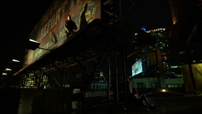 The Punisher and Daredevil talking, as seen in episode two of Daredevil, season two