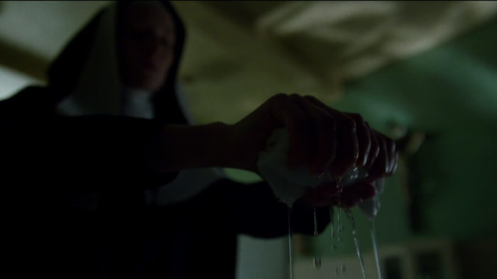 Someone who must be sister Maggie in episode two of Daredevil, season two