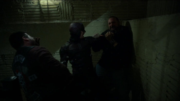 Matt fights his way down a stairwell, as seen in episode two of Daredevil, season two