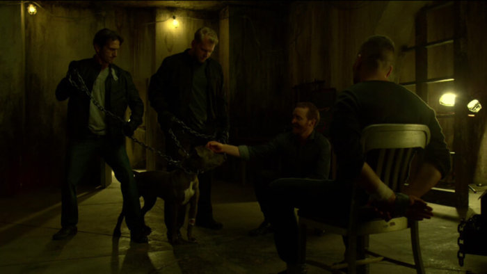 Frank gives up when a dog is threatened, as seen in episode four of Daredevil, season two