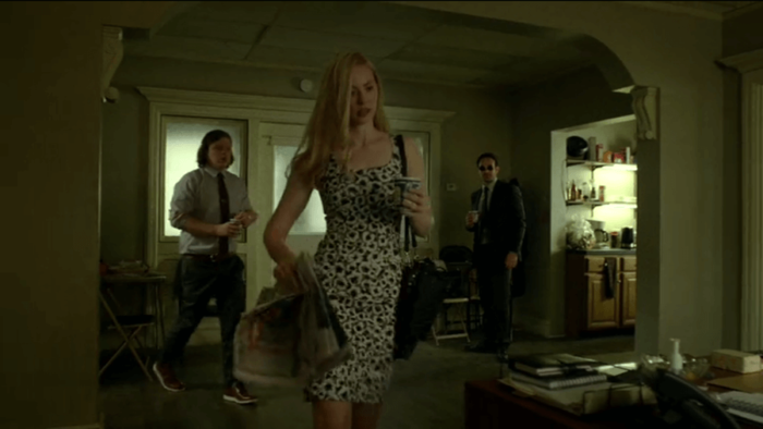 Karen shows up at the office, as seen in episode five of Daredevil, season two