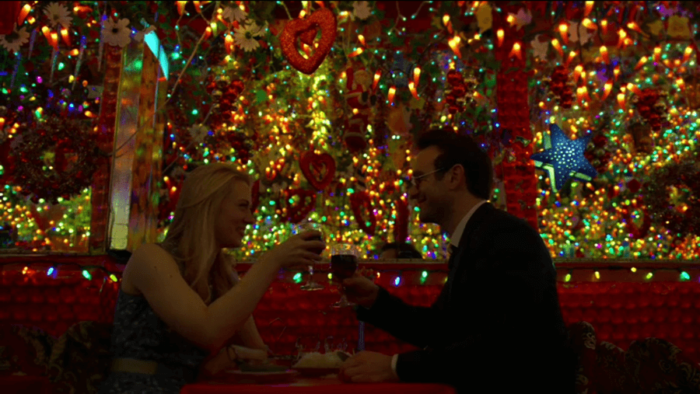 Matt and Karen eating Indian food, as seen in episode five of Daredevil, season two