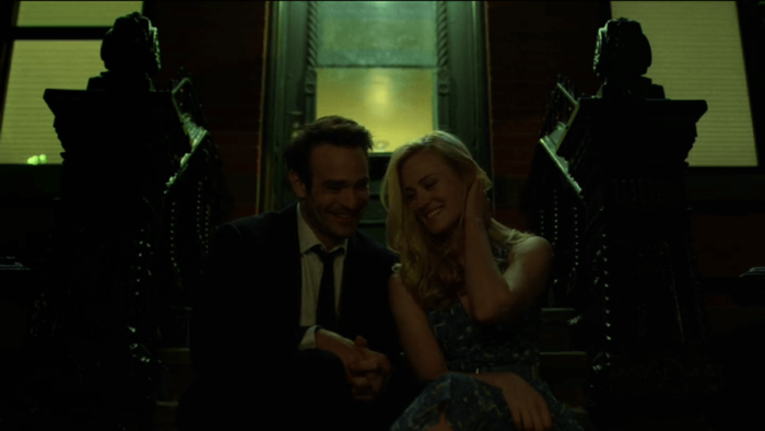 Matt and Karen in front of Karen's apartment, as seen in episode five of Daredevil, season two
