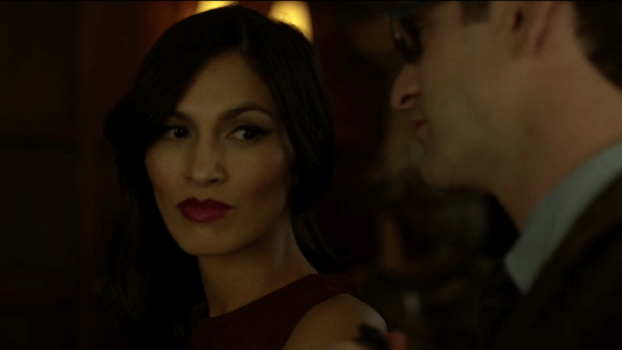 Matt meets Elektra for the first time, as seen in episode five of Marvel's Daredevil, season two.
