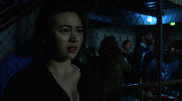 Colleen Wing, after her first cage fight, as seen in Iron Fist