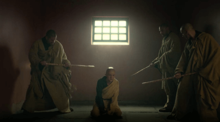 Young Danny is disciplined by the monks that took him in, as seen in Iron Fist