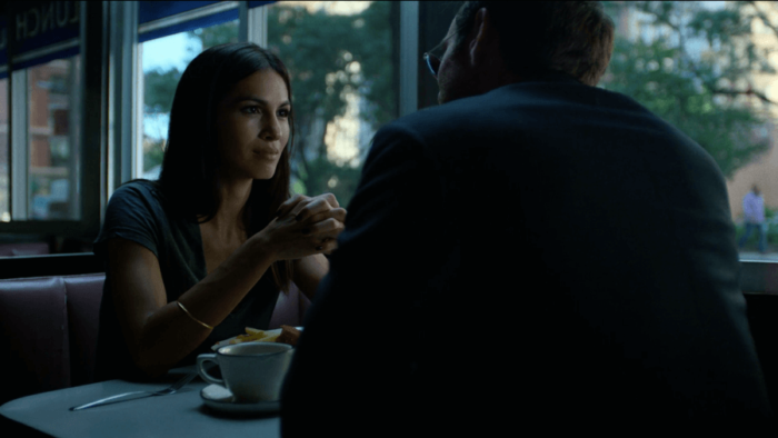 Matt and Elektra have breakfast, as seen in episode six of Daredevil, season two