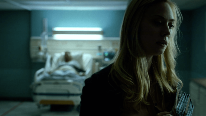 Karen leaves Frank's bedside, as seen in episode six of Daredevil, season two