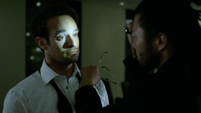 Matt gets a pupil check, as seen in episode six of Daredevil, season two
