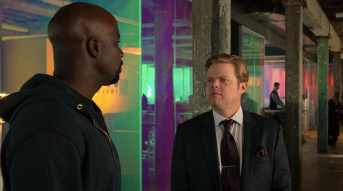 Luke gets a hand from his lawyer friend Foggy, as seen in the fifth episode of the second season of Luke Cage