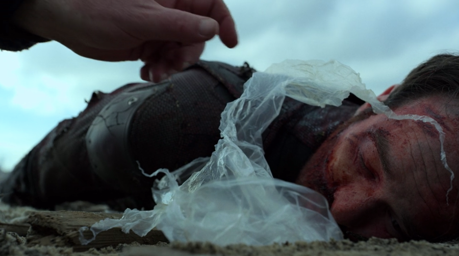 An unconscious Matt is found by a cap driver, as seen on Marvel's Daredevil season three, episode one.
