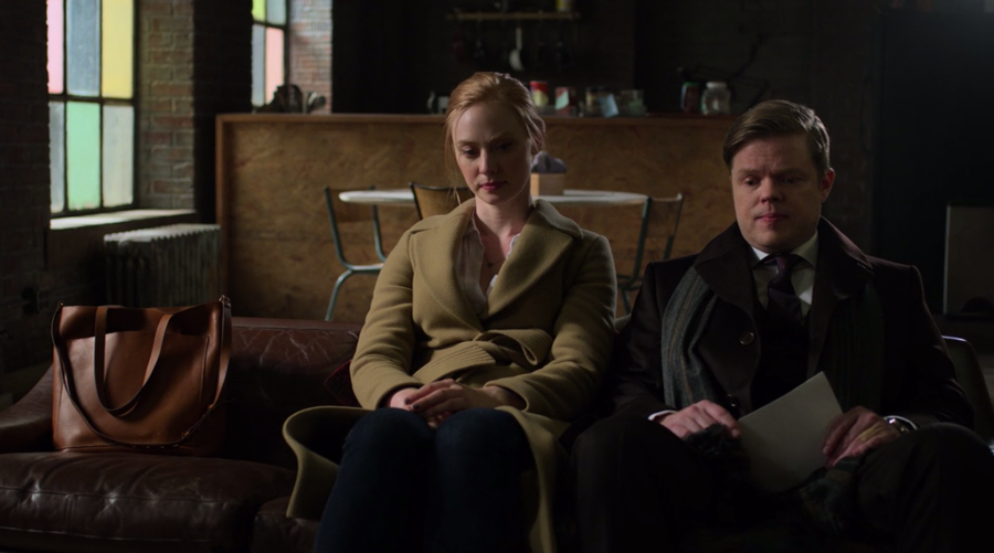 Karen and Foggy on Matt's couch, as seen on Marvel's Daredevil season three, episode one.