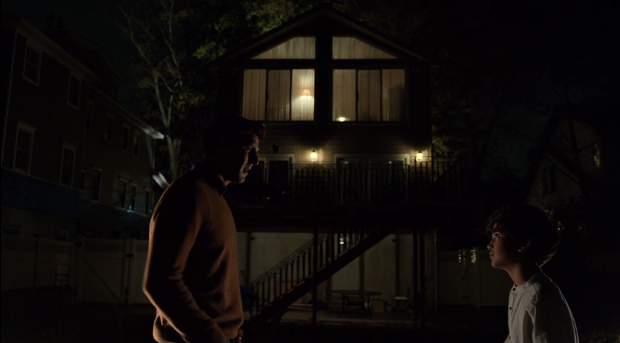 Ray Nadeem talking outside to his son Sami, as seen on Marvel's Daredevil season three, episode one.