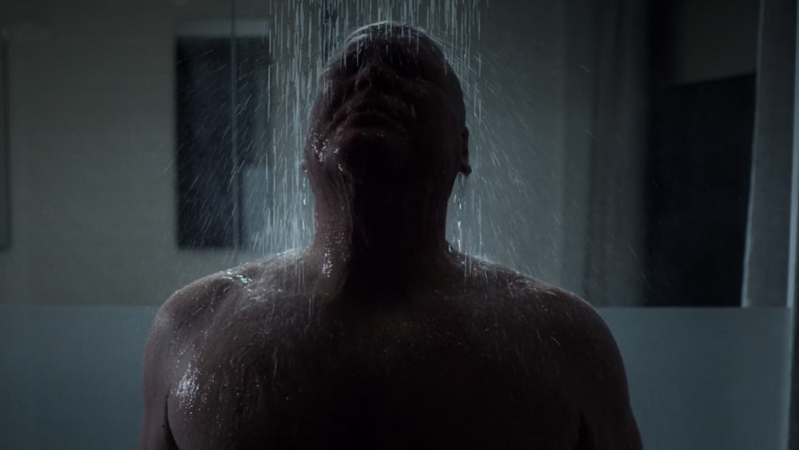 Fisk showers, as seen in Marvel's Daredevil, season three episode three