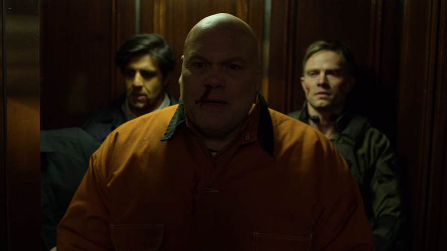Fisk is taken to the hotel after attack, as seen in Marvel's Daredevil, season three episode three