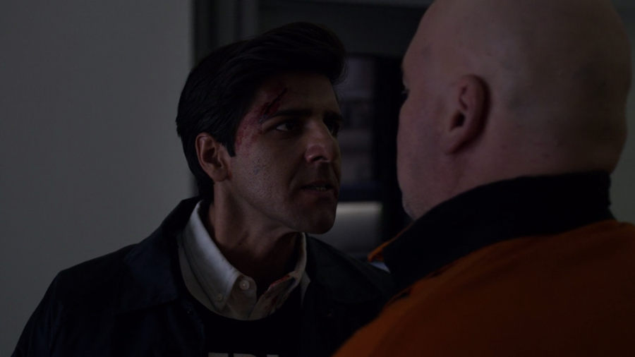 Agent Ray Nadeem expresses his anger at Fisk for what happened to his fellow agents, as seen in Marvel's Daredevil, season three episode three
