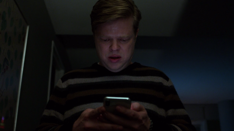 Foggy checks his phone and learns that Fisk has been released from prison, as seen in Marvel's Daredevil, season three episode three