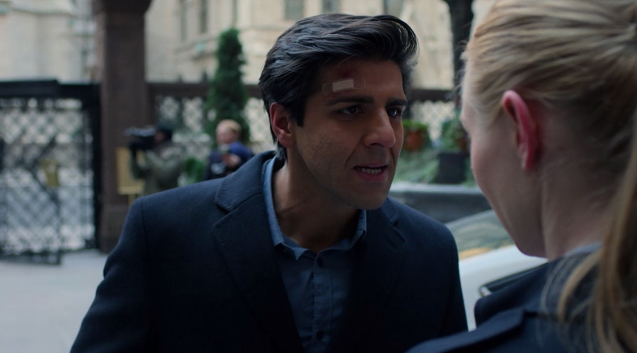 An angry Ray is squaring off with Karen, reminding her to think of the agents that were killed, as seen in Marvel's Daredevil, season three episode three