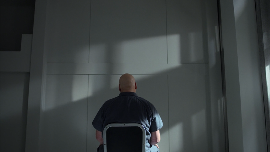Fisk, seen staring at his wall, as seen in Marvel's Daredevil, season three episode three