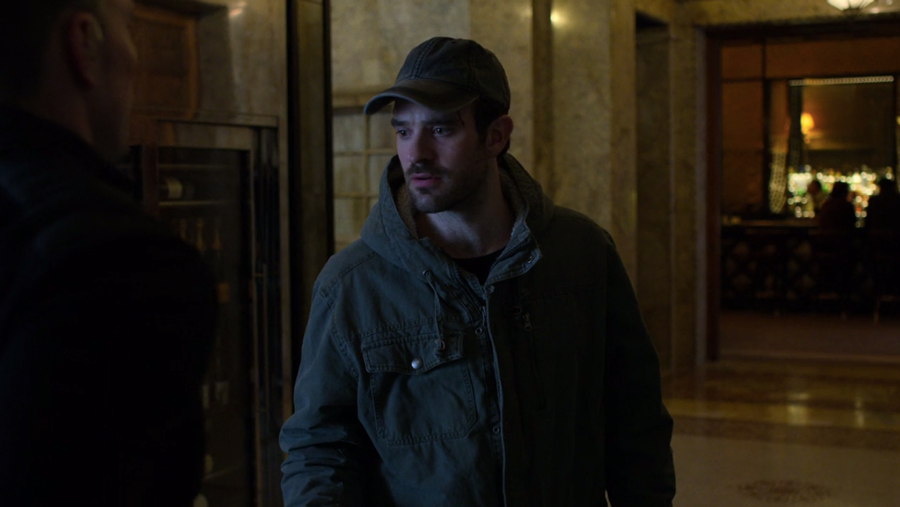 Matt is still sneaking around the hotel and meets Agent Poindexter, as seen in Marvel's Daredevil, season three episode three