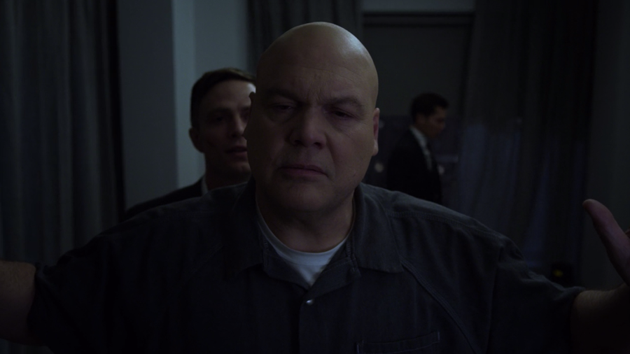 Fisk has his room checked, as seen on Marvel's Daredevil, season three episode four