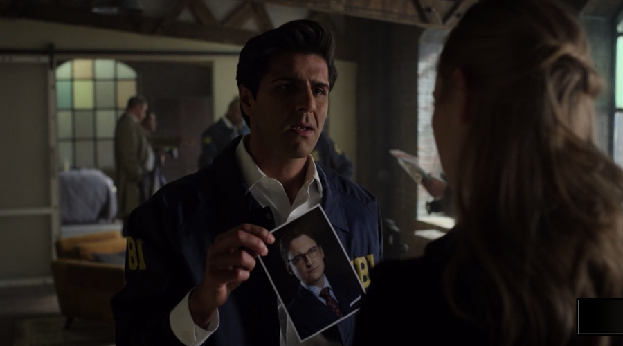 Agent Nadeem shows Karen a photo of Wesley, as seen on Marvel's Daredevil season 3, episode 5