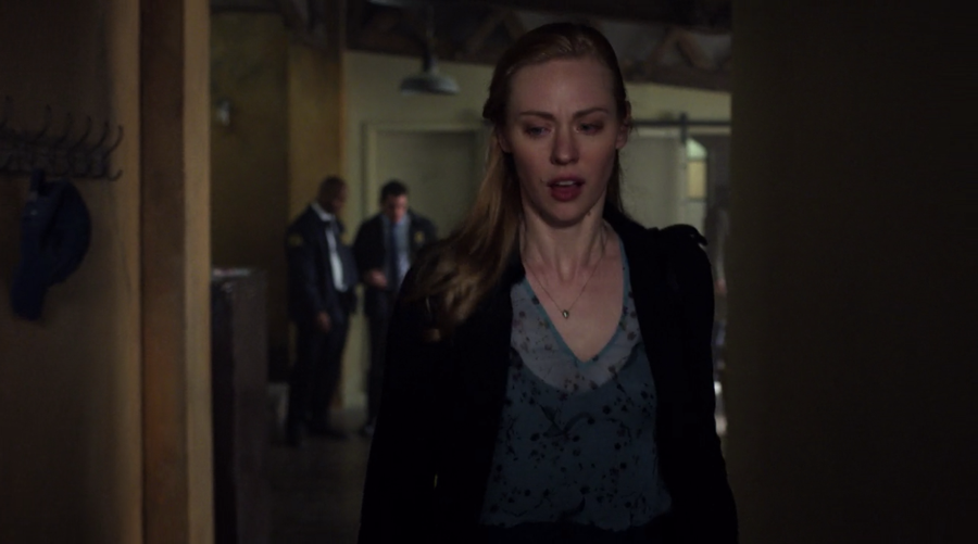 Karen, terrified, flees Matt's apartment, as seen on Marvel's Daredevil season 3, episode 5