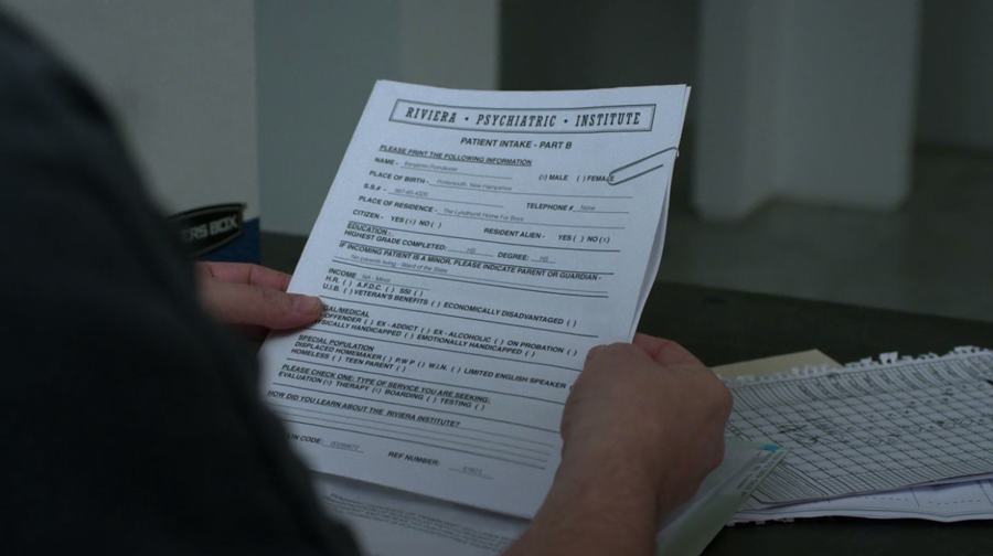 Fisk looks at Dex's psychiactric records, as seen on Marvel's Daredevil season 3, episode 5