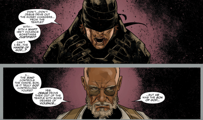 Young Matt in confession, as seen in Daredevil #1 (vol 6), by Chip Zdarsky and Marco Checchetto