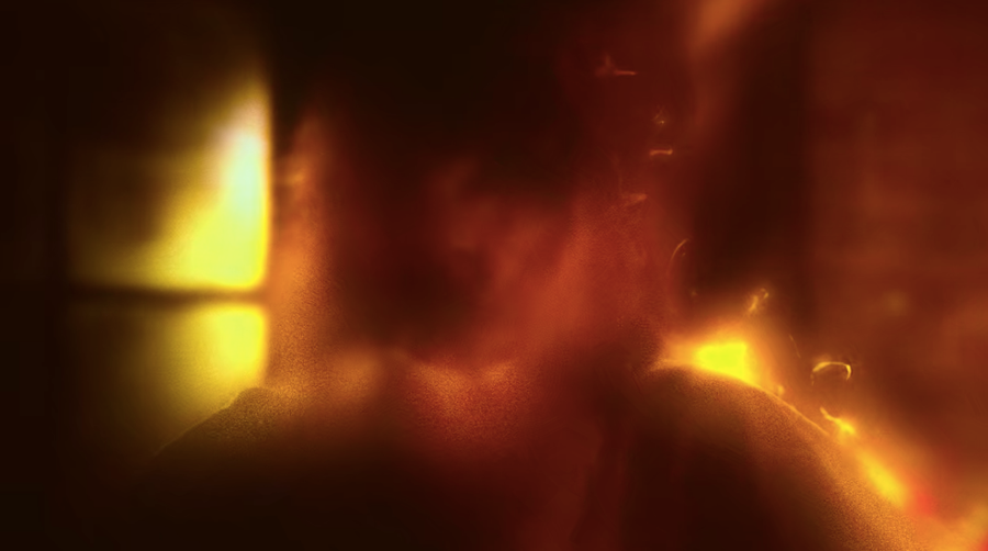 A still frame showing the world on fire effect used on Marvel's Daredevil